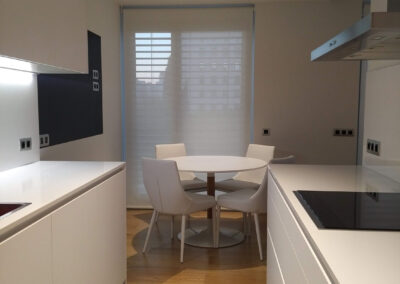 Cocina blanca moderna, Interiorismo en Madrid