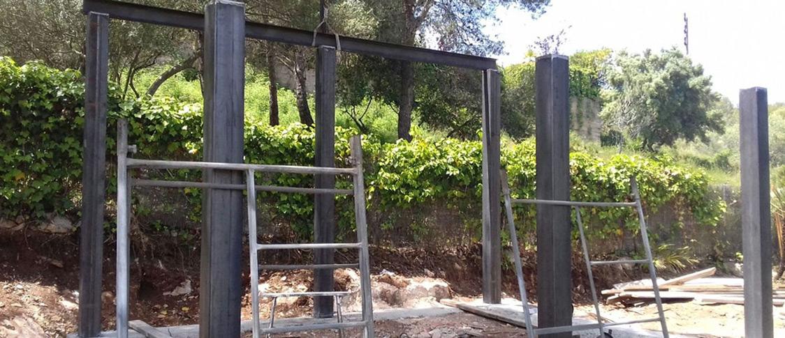Construcción porche hierro en Tarragona