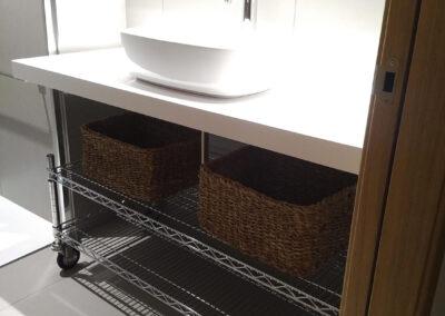 Decoración de un baño elegante en Madrid