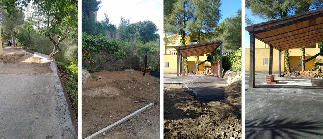 reforma de exterior jardín Tarragona