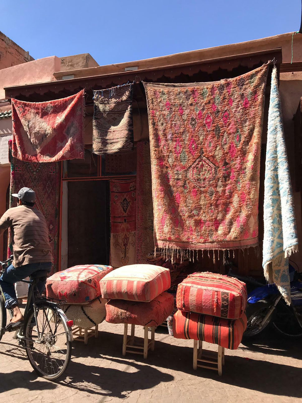 alfombras de Marruecos-calle