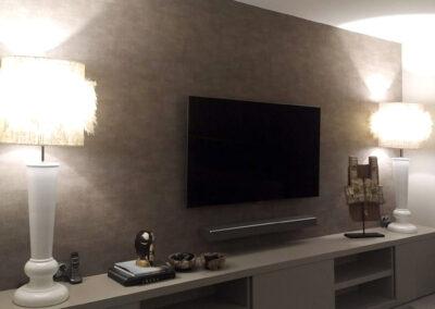 Detalle de mueble de tv hecho a medida