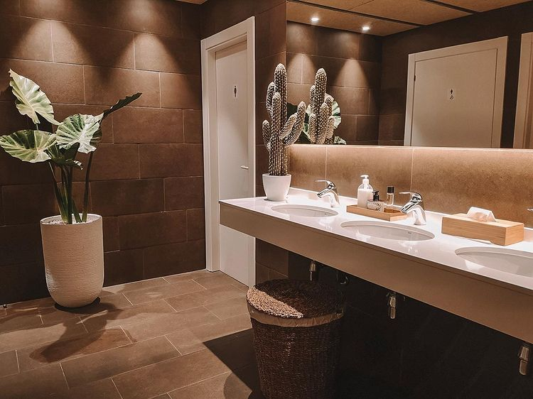 decoración de baños de cortesía